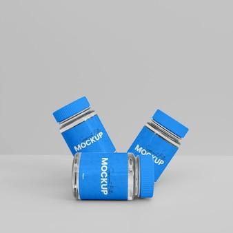Mockup voor 3d glazen supplementfles