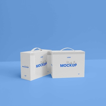 Mockup voor 3d-monitorbox