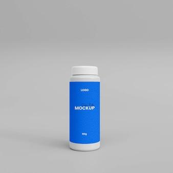 Mockup voor 3d-poederspuitfles