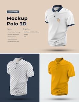 Mockup voor 3d-poloshirts