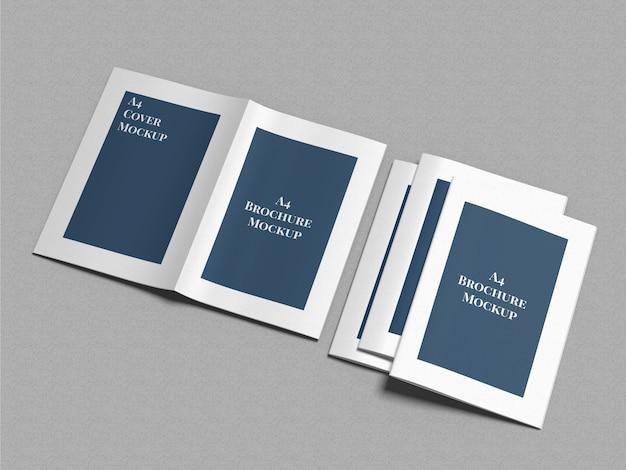 Mockup voor a4-brochures