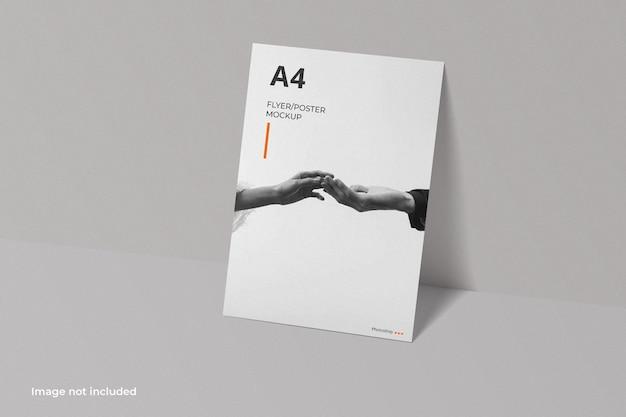 Mockup voor a4-flyerbrochure