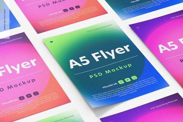 Mockup voor a5-flyers