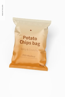 Mockup voor aardappelchips