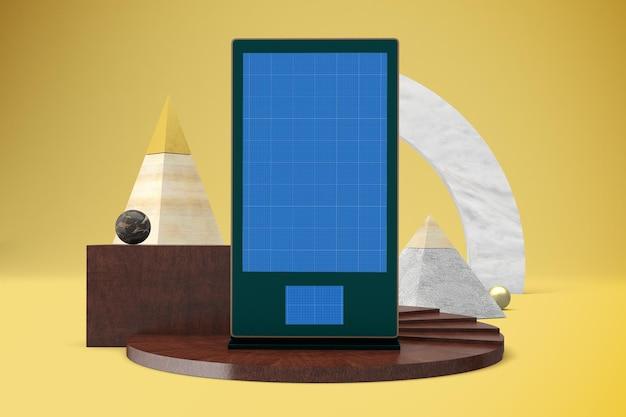 Mockup voor abstracte digitale bewegwijzering