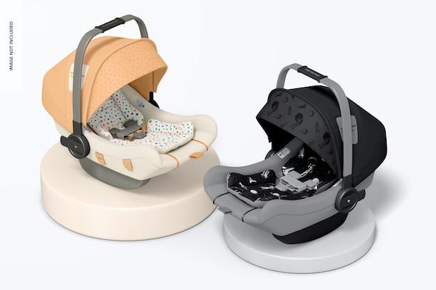 Mockup voor baby-autostoelen, bovenaanzicht