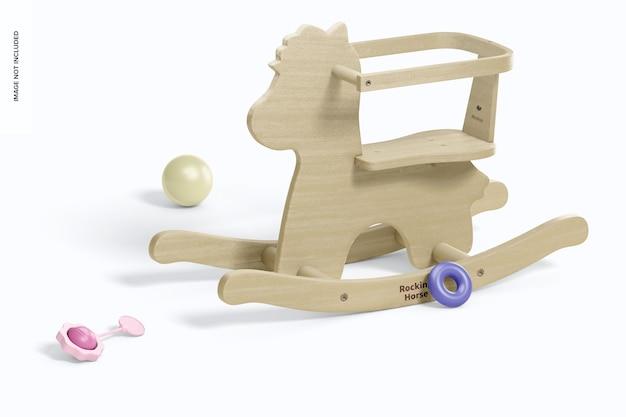 Mockup voor baby houten hobbelpaard