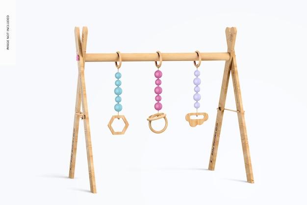 Mockup voor baby houten sportschool