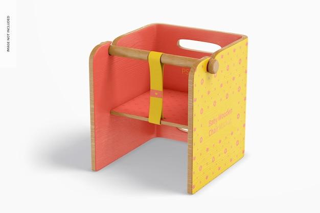 Mockup voor baby houten stoel