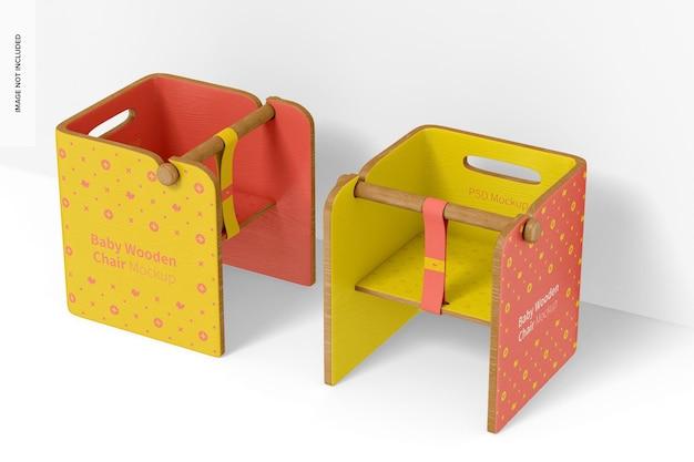 Mockup voor baby houten stoelen