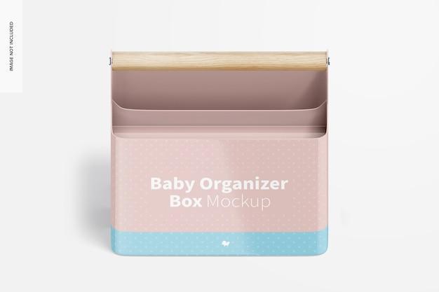 Mockup voor baby-organizer, isometrisch vooraanzicht
