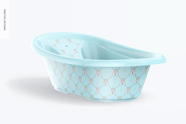 Mockup voor babybadkuip, perspectief