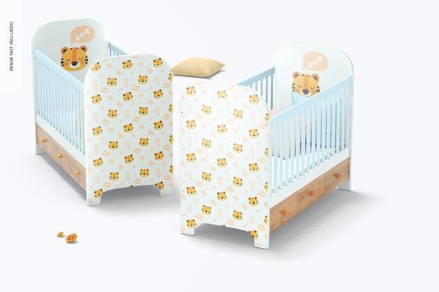 Mockup voor babybedjes