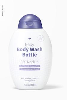 Mockup voor babylichaamswasfles