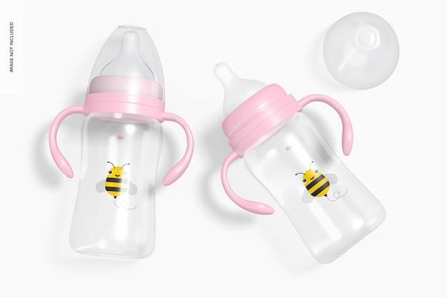 Mockup voor babymelkflessen van 300 ml