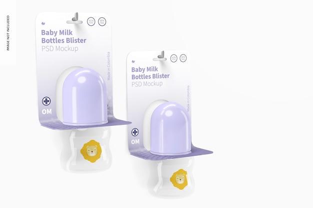 Mockup voor babymelkflessen van 60 ml