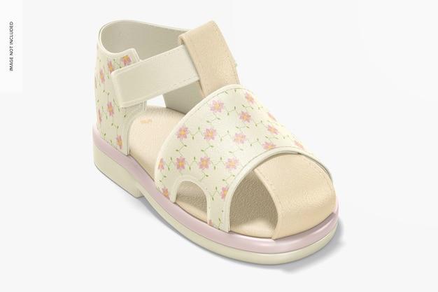 Mockup voor babyschoenen