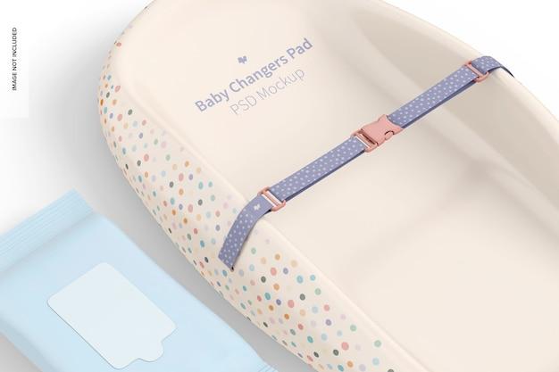 Mockup voor babywisselaar, close-up