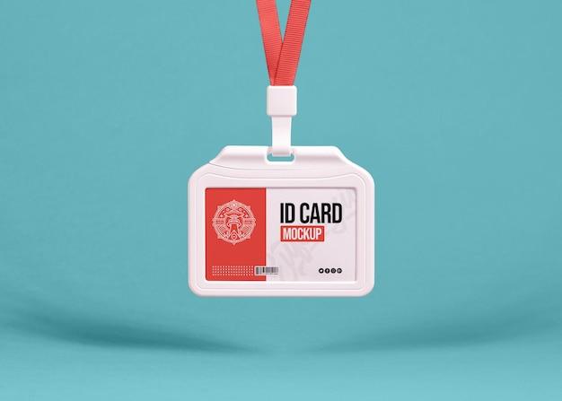 Mockup voor bedrijfskantoor id-kaarthouder