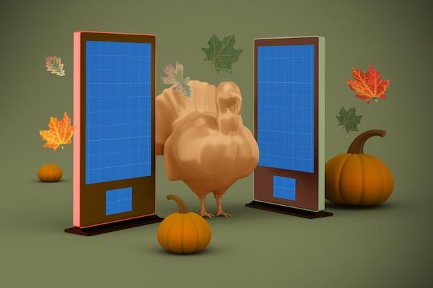 Mockup voor bewegwijzering voor thanksgiving