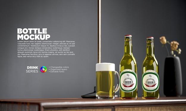 Mockup voor bierbootle-etiket