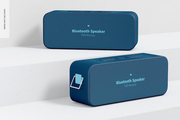 Mockup voor bluetooth-luidsprekers, perspectief