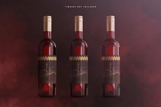 Mockup voor branding van wijnflessen