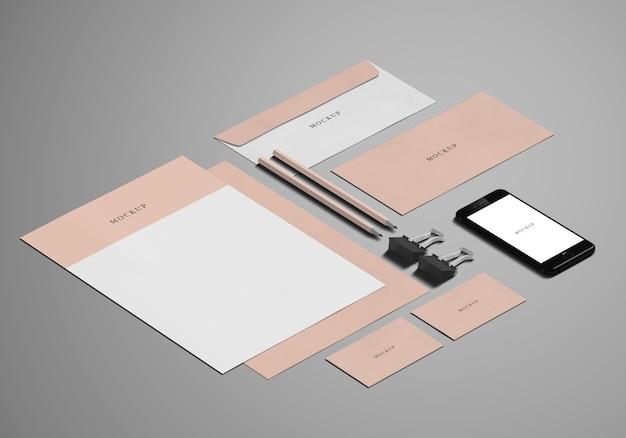 Mockup voor briefpapier