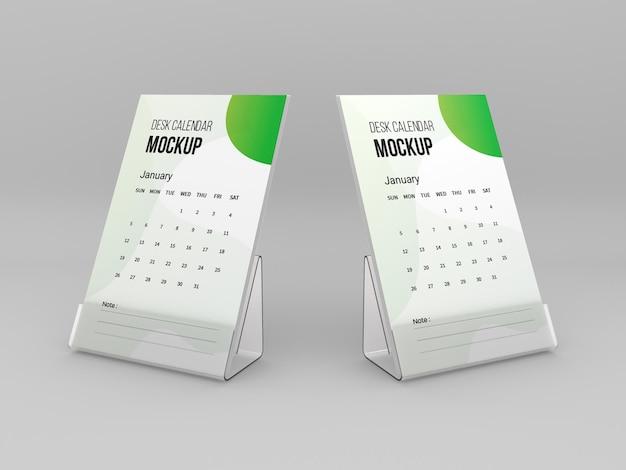 Mockup voor bureaukalender