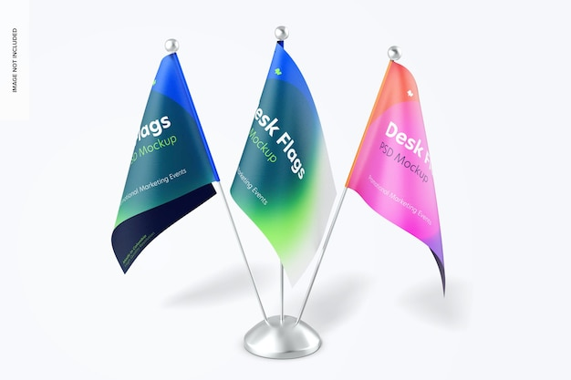 Mockup voor bureauvlaggen