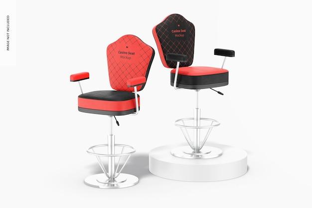 Mockup voor casinostoelen