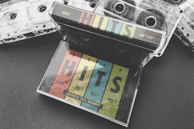 Mockup voor cassette-cassette met audiocassette