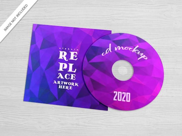 Mockup voor cd- of dvd-hoesjes