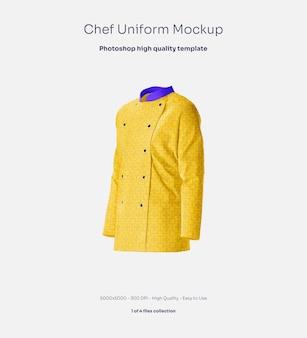 Mockup voor chef-kokuniform
