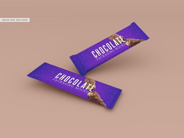 Mockup voor chocoladeverpakking