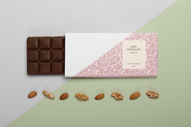 Mockup voor chocoladeverpakkingen Gratis Psd