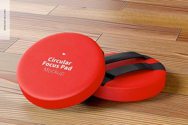Mockup voor circulaire focuspads
