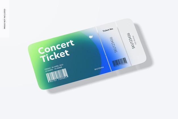 Mockup voor concertkaartjes,