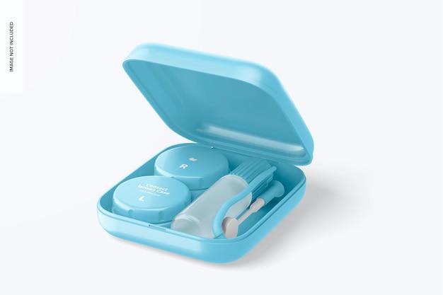 Mockup voor contactlenzen case