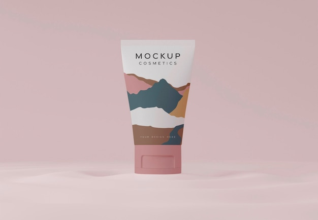 Mockup voor cosmetica-containers