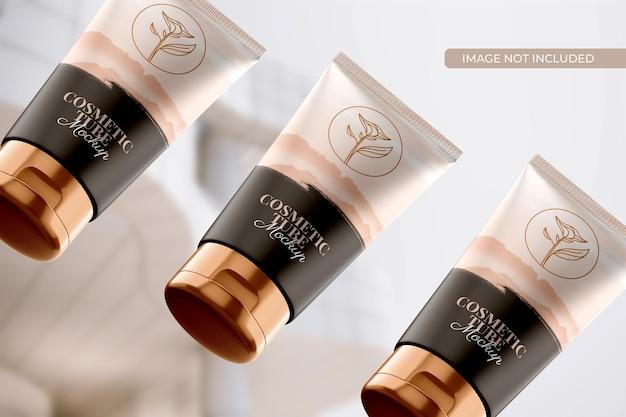 Mockup voor cosmetische buisverpakkingen