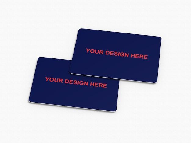 Mockup voor creditcard / bankpas