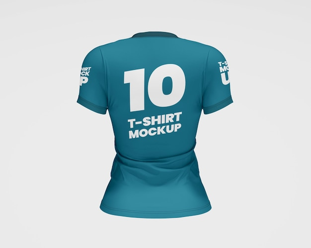Mockup voor dames slimfit t-shirt