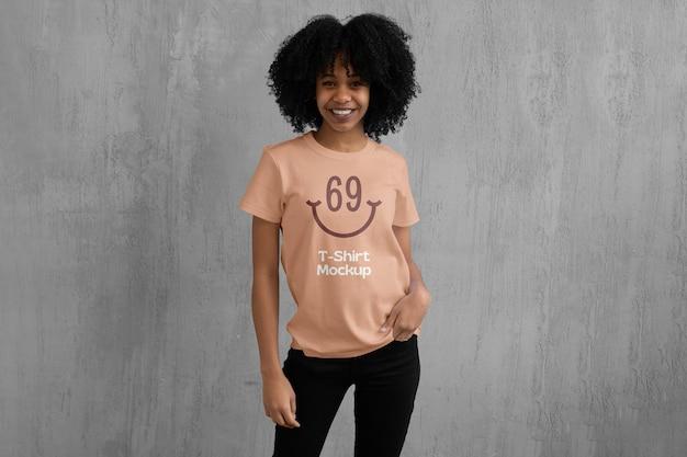 Mockup voor dames t-shirt
