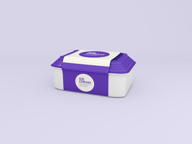 Mockup voor de verpakking van een ijsdoos