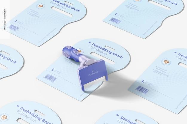 Mockup voor deshedding-borstelverpakking