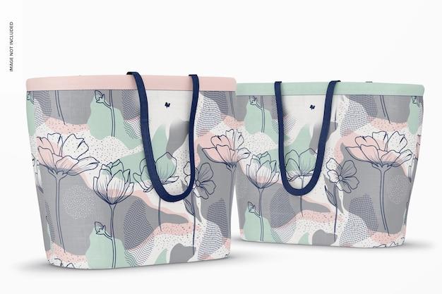 Mockup voor designer boodschappentassen