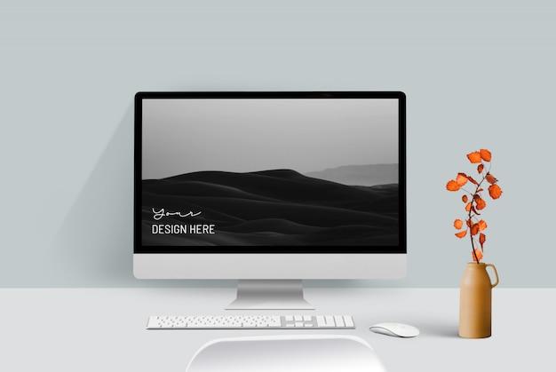 Mockup voor desktopcomputer