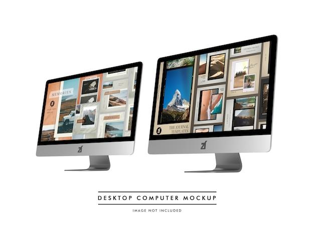 Mockup voor desktopcomputers en scènegenerator