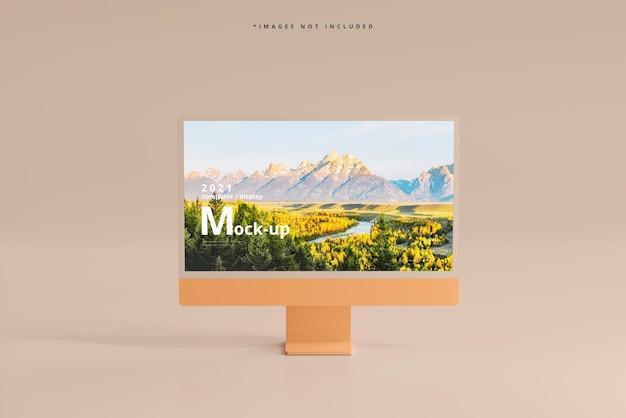 Mockup voor desktopcomputerscherm